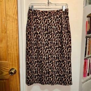 Vintage Leopard Midi Skirt - a la Realisation